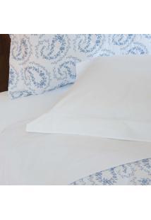 Jogo De Lençol 200 Fios Liso Branco - Scavone