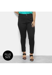 Calça Sarja Tks Plus Size Feminina - Feminino-Preto