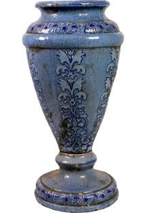 Vaso De Cerâmica Azul Vanuatu M