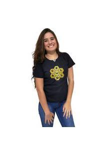 Camiseta Feminina Cellos Honey Premium Preto