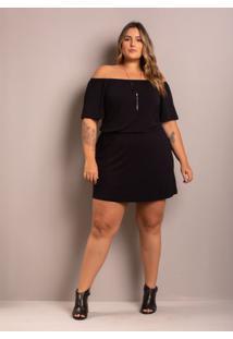 Vestido Ciganinha Myra Black Plus Size