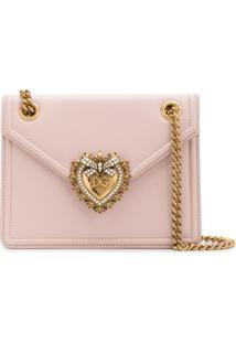Dolce & Gabbana Bolsa Tiracolo Devotion Média - Rosa