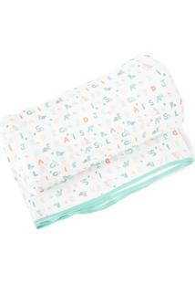 Cobertor Papi Abc Verde