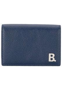 Balenciaga Carteira B Mini De Couro - Azul