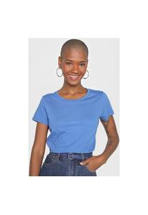 Blusa Basicamente. Lisa Azul