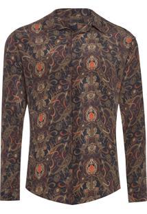 Camisa Masculina Silk Bangalore - Marrom