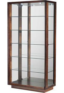 Cristaleira Wood Com Abertura Lateral Cor Moka 90 Cm (Larg) - 37357 - Sun House