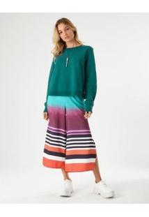 Calça Pantacourt Listra Rainbow Zinzane Feminina - Feminino