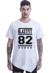 Camiseta Longline Blast Fit Branco
