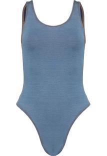 Body Água De Sal Basic Jeans Azul