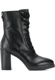 Liu Jo Ankle Boot Com Cadarço - Preto