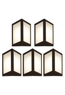 Arandela Triangular Marrom Kit Com 5 Casah