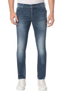 Calça Jeans Sculpted Ckj 026 Slim - Azul Médio - 40