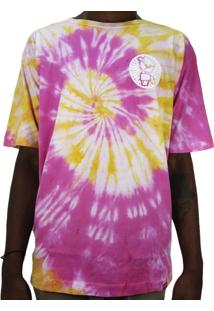 Camiseta Outlawz Tie Dye Do It Your Self Yellow Pink