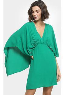 aac4dc6a66 ... Vestido Colcci Curto Manga Morcego - Feminino-Verde