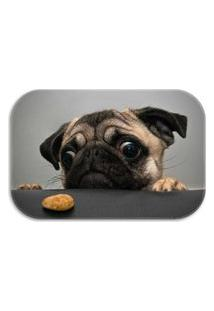 Tapete Decorativo Wevans Pug Dog 40Cm X 60Cm Cinza