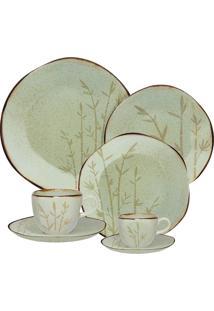 Aparelho De Jantar Oxford Ryo Porcelana 42 Peças Bambu