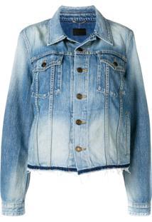 Saint Laurent Jaqueta Jeans - Azul