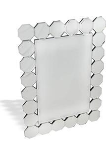 Espelho De Parede Retangular Com Borda Trabalhada 60Cmx80Cm Nakine