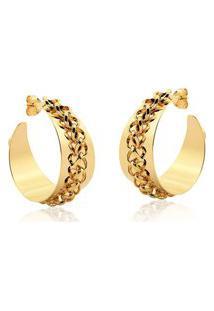 Argola Le Diamond Correntes Dourada