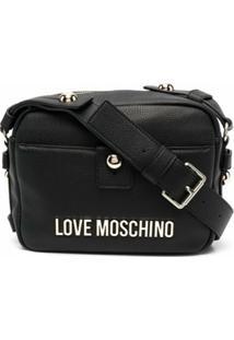 Love Moschino Bolsa Transversal Com Logo Monogramado - Preto
