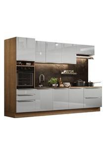 Cozinha Completa Madesa Lux 320004 Com Armário E Balcão Rustic/Cinza Cor:Rustic/Cinza