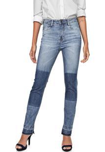 Calça Jeans Carmim Reta Brighton Basic Azul