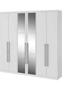 Guarda-Roupa Alonzo New Com Espelho - 100% Mdf - 6 Portas - Branco