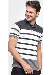 Camisa Polo Gajang Listrada Masculina - Masculino-Cinza
