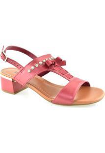 Sandalia Salto Quadrado E Strass Usaflex Y5403