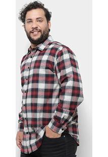 Camisa Xadrez Delkor Plus Size Masculina - Masculino