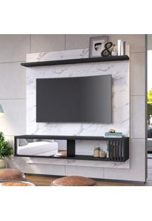 Painel Para Tv Até 55 Polegadas Ilhéus Calacatta E Preto