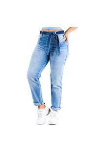 Calça Jeans Mom Com Botões E Laço Biotipo