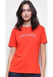 Camiseta Tommy Hilfiger Básica Logo Feminina - Feminino
