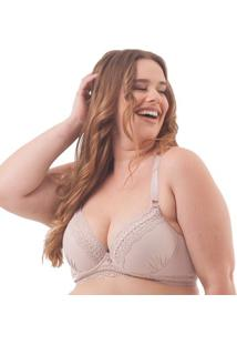 Sutiã Plus Size Com Base Renda Crochê