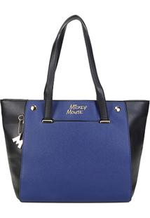 Bolsa Gash Shopper Mickey Feminina - Feminino-Azul