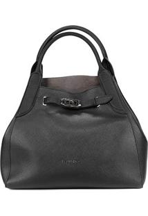 Bolsa Ellus Shopping Bag Military Feminina - Feminino-Preto