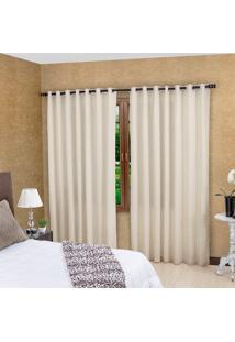 Cortina Para Varão Bella Janela 300X230 Cm Duplex Barcelona Areia Com Forro