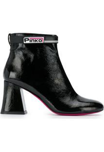 Pinko Ankle Boot Salto Bloco - Preto