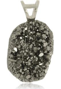 Pingente Le Diamond Druza Natural Cinza