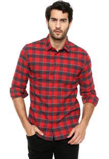 Camisa Sommer Xadrez Vermelho