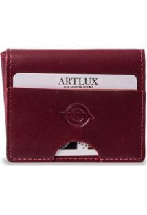Carteira Masculina Artlux Trifold - Feminino-Vermelho
