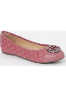Sapatilha Em Couro Matelass㪠- Rosa & Pinkcapodarte