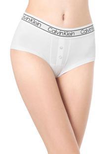 Calcinha Calvin Klein Underwear Caleçon Boyshort Branca
