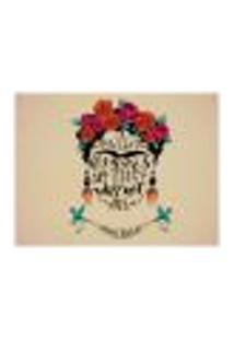 Jogo Americano (Kit 4 Unidades) Nerderia E Lojaria Frida Flowers Colorido