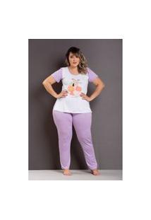 Pijama Florescer Roxo Plus Size Domenica Solazzo Pijama Roxo
