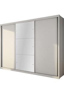 Guarda Roupa Paradizzo Gold 3 Portas Com Espelho Branco