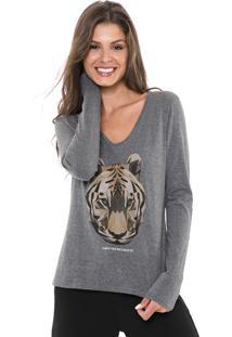 Blusa Malwee Tigre Cinza