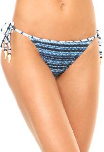 Calcinha Cia. Maritima Fashion String Azul