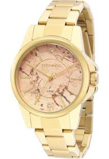 Relógio Technos Trend 2036Mem/4T Feminino - Feminino-Dourado